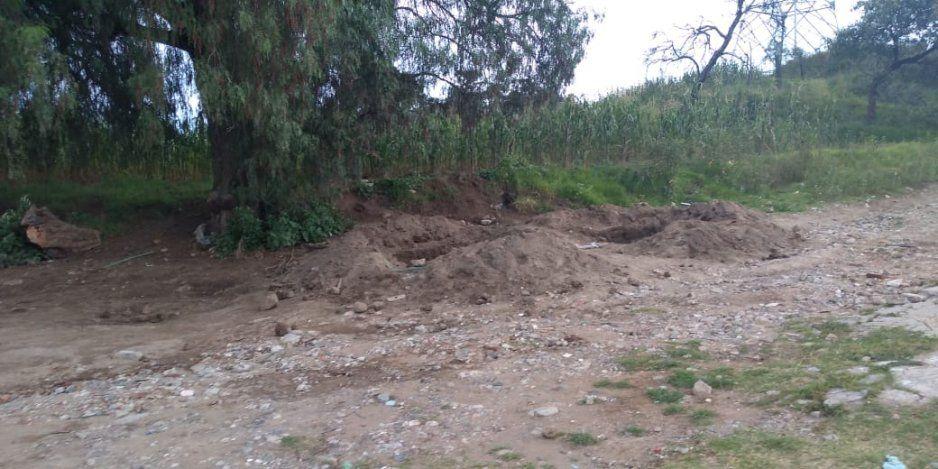 Detectan tomas clandestinas en zona limítrofe de Texmelucan y El Verde una de ellas con fuga