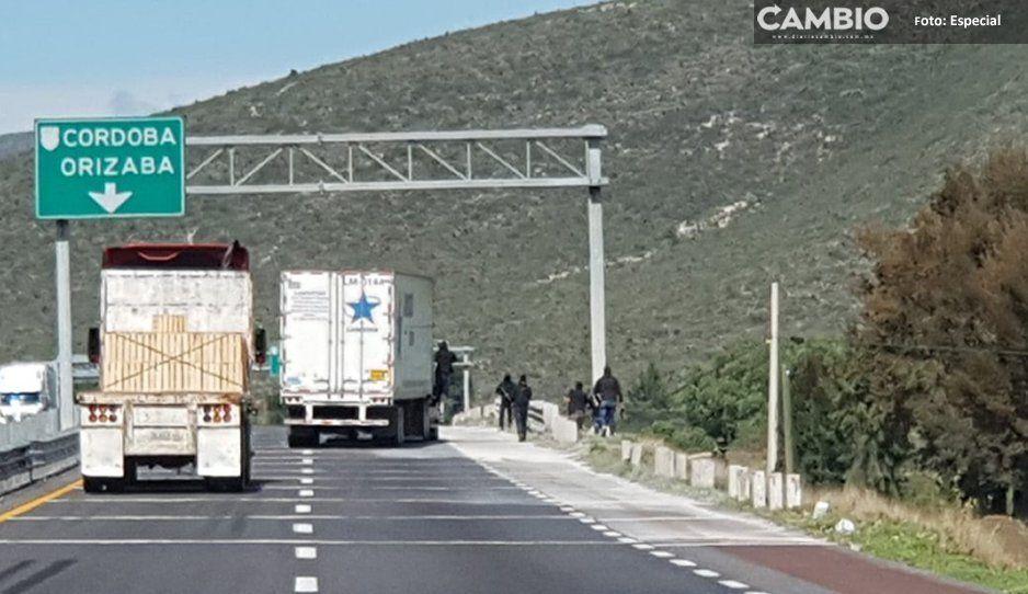 PF detuvo a tres asaltantes en la Cuacnopalan-Oaxaca, llevaban un cuerno de chivo y un revolver 22