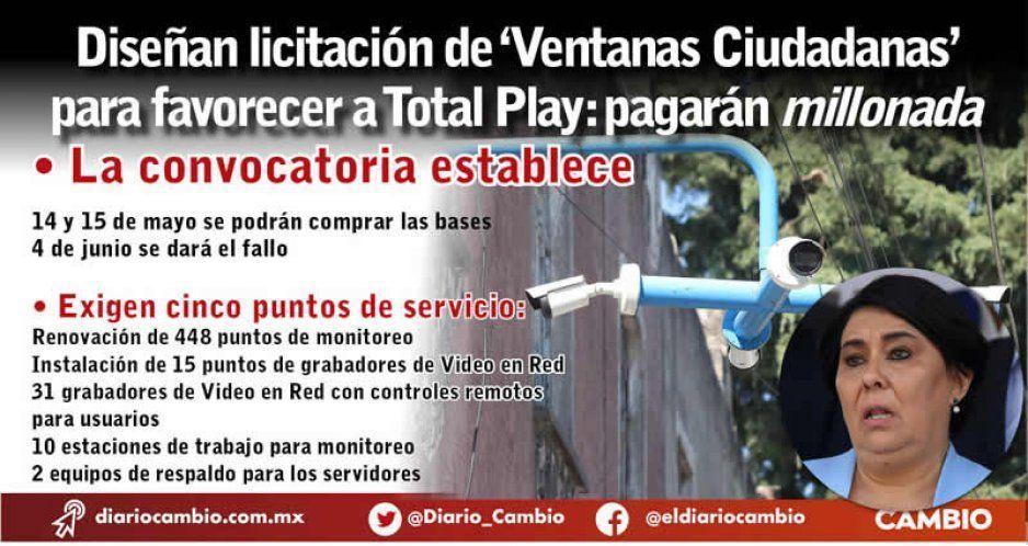 Diseñan licitación de 'Ventanas Ciudadanas' para favorecer a Total Play: pagarán millonada