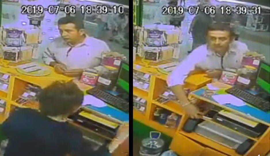 Mano larga le roba su celular a una viejita vendedora de dulces en Tehuacán (VIDEO)