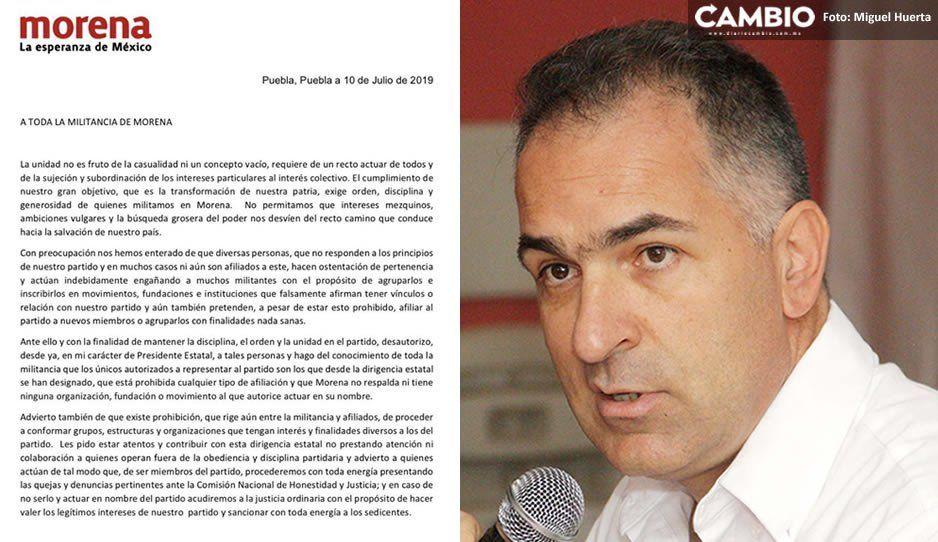 Mario Bracamonte denuncia sobre gente que no es del partido, afiliando ciudadanos a Morena