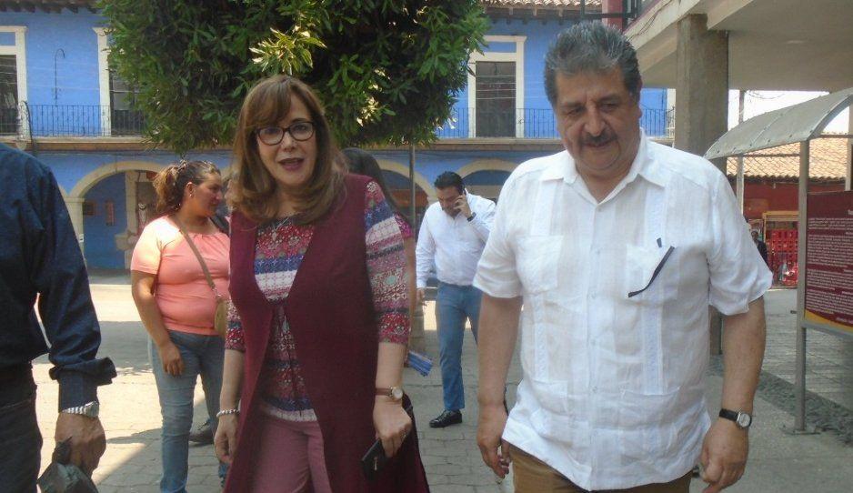 Yeidckol Polevnsky respalda a Gustavo Vargas en Huauchinango