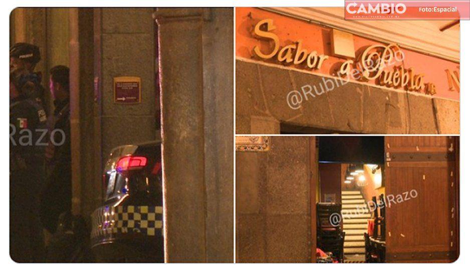 Durante asalto a Sabor a Puebla de los portales, golpean a los empleados