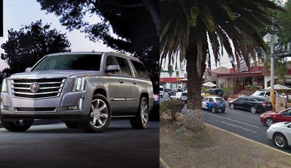 Comando armado levanta a conductor de Cadillac Escalade en Huexotitla