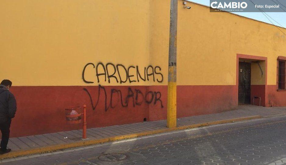 Cárdenas llora por pinta en su hotelito: acusa intimidación y lo borra enseguida