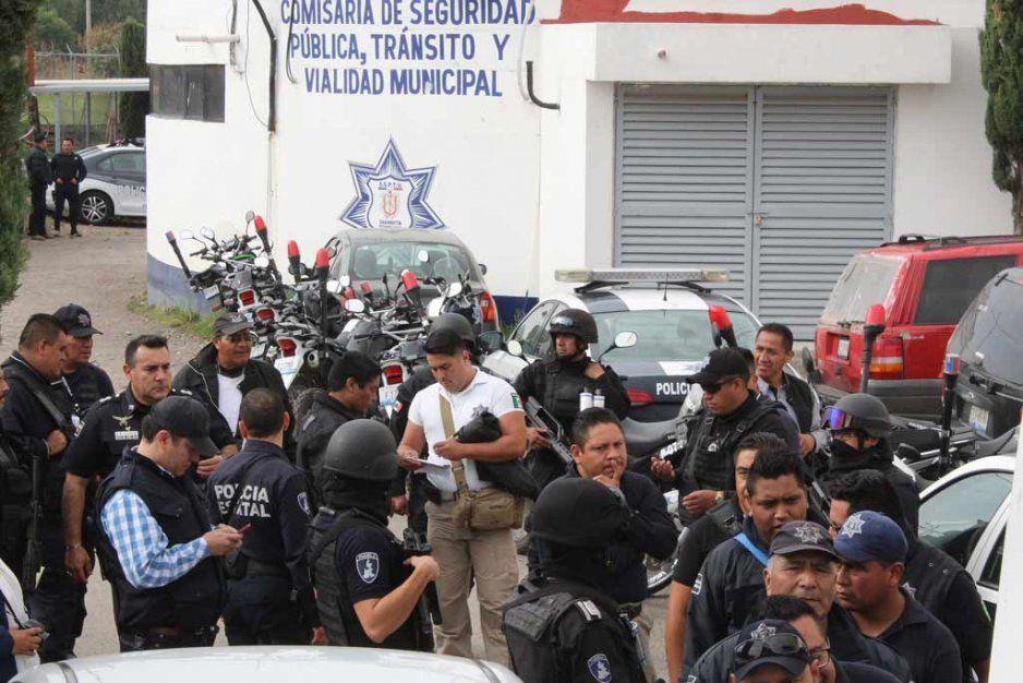 Autoridades descartan lesión de elementos de seguridad pública de Texmelucan