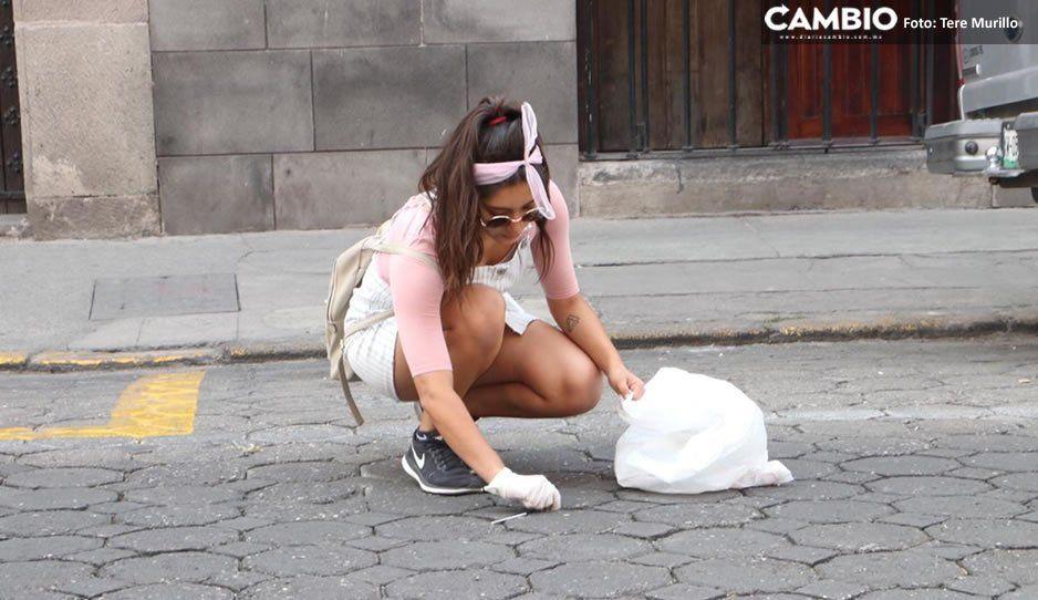 Héroes sin capa estudiantes se ponen a levantar colillas y basura en el Centro Histórico