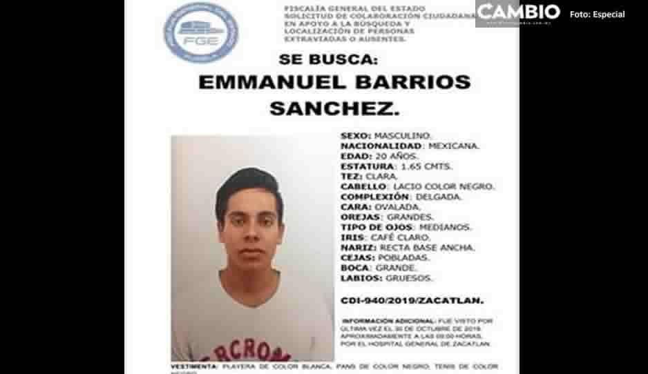 Emmanuel Barrios desapareció en Zacatlán ¡Ayúdanos a localizarlo!