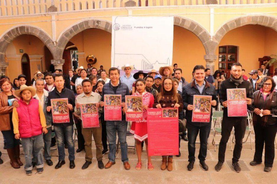 Regresa Carnaval de San Pedro Cholula a plaza de La Concordia