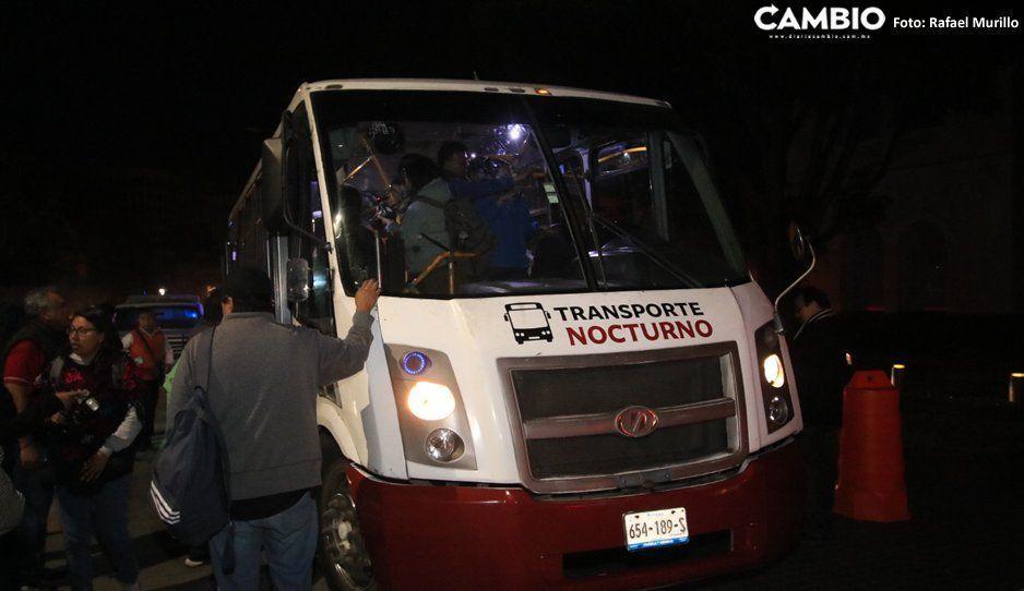 Sistema de transporte nocturno destinará 15 autobuses para aficionados del Puebla