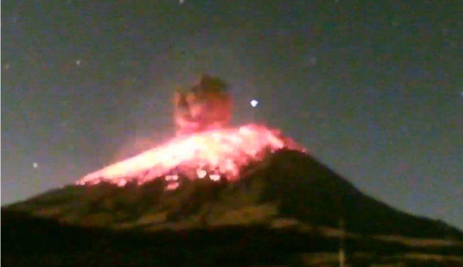 Explosión del Popocatépetl causa alarma en Texmelucan y Huejotzingo (FOTOS)