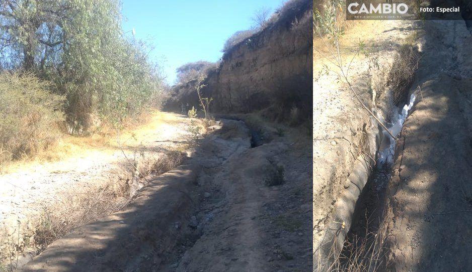 Provocan fisura en un ducto de gas en Tlalancaleca