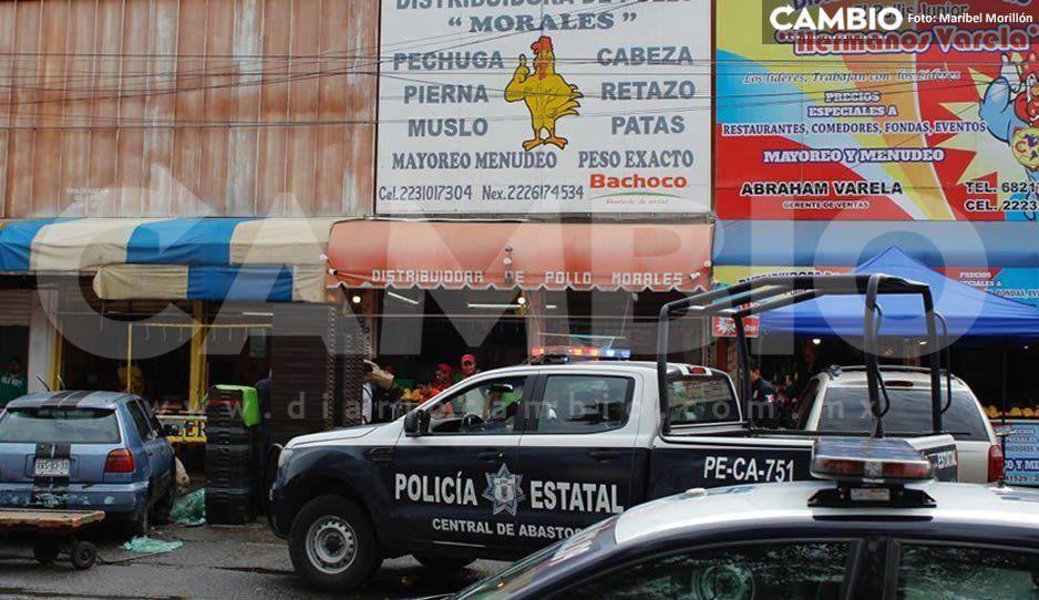 Comando armado asalta pollería de la Central de Abastos