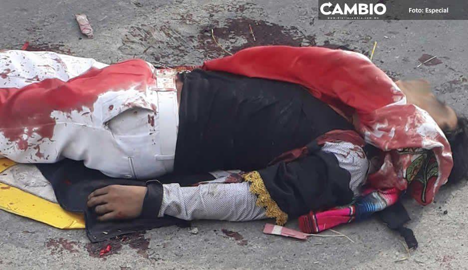Carnaval de terror: muere huehue por balazo de mosquetón en Huejotzingo