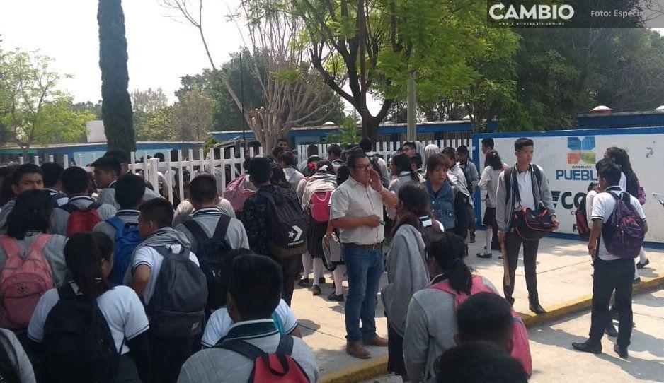 Desalojan Colegio de Bachilleres de Tehuacán por amenaza de bomba