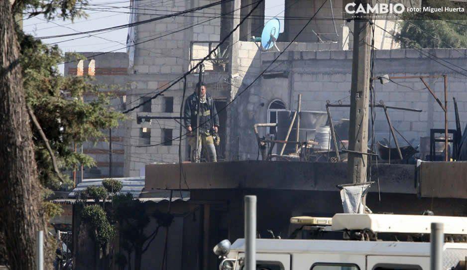 Controlan incendio en depósito de aceites de motorde Tlaxcalancingo (FOTOS y VIDEOS)