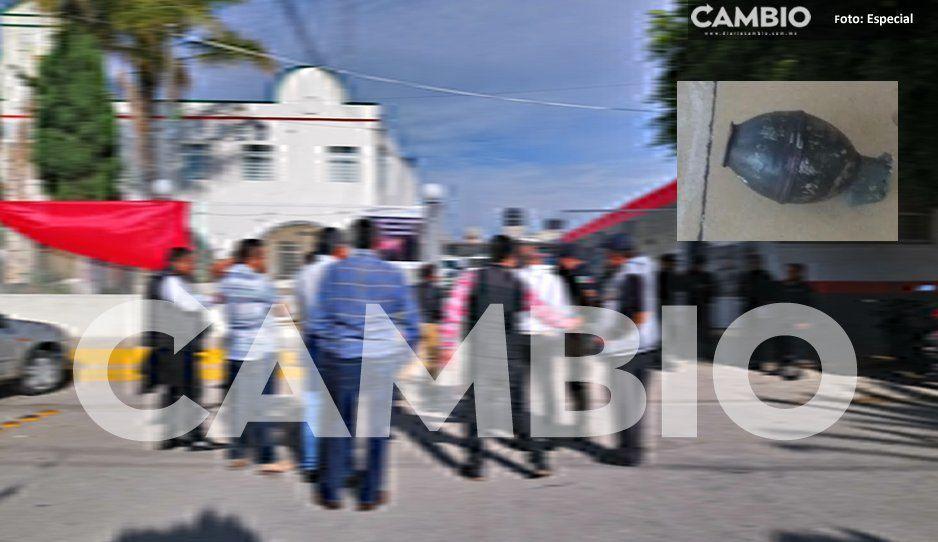 Confirman que granada de fragmentación fue lanzada a la alcaldía de Tochtepec, pero no estalló