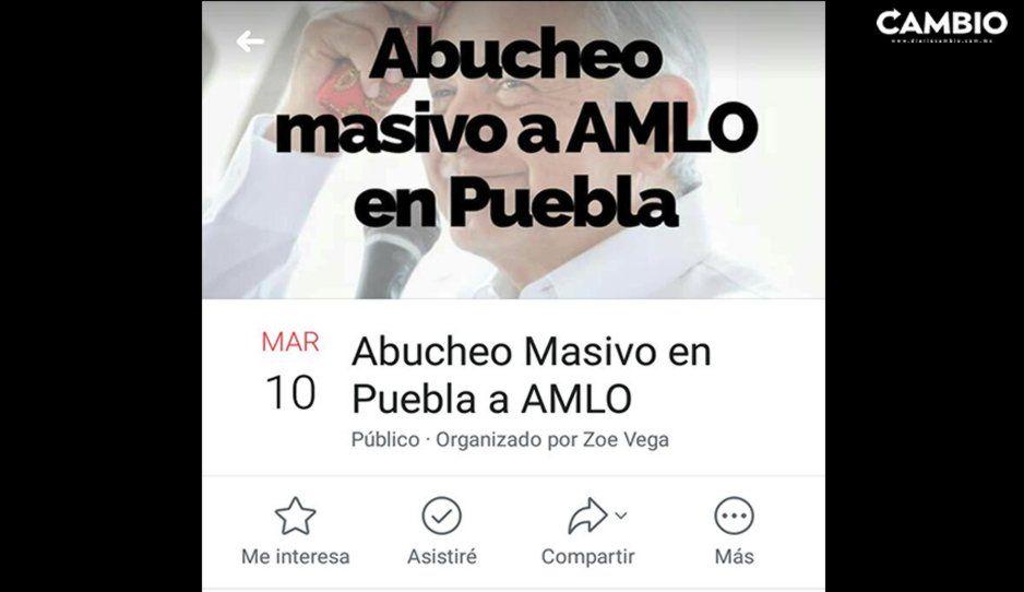A través de redes poblanos promueven abuchear y exigir renuncia de AMLO en su visita a Puebla