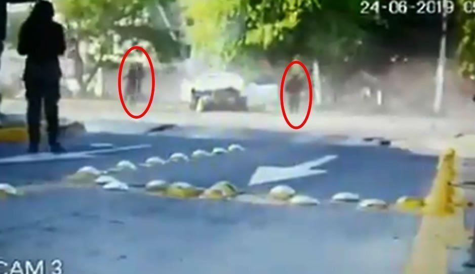 VIDEO: Joao Maleck y su acompañante saliendo del auto que conducían en estado de ebriedad y exceso de velocidad