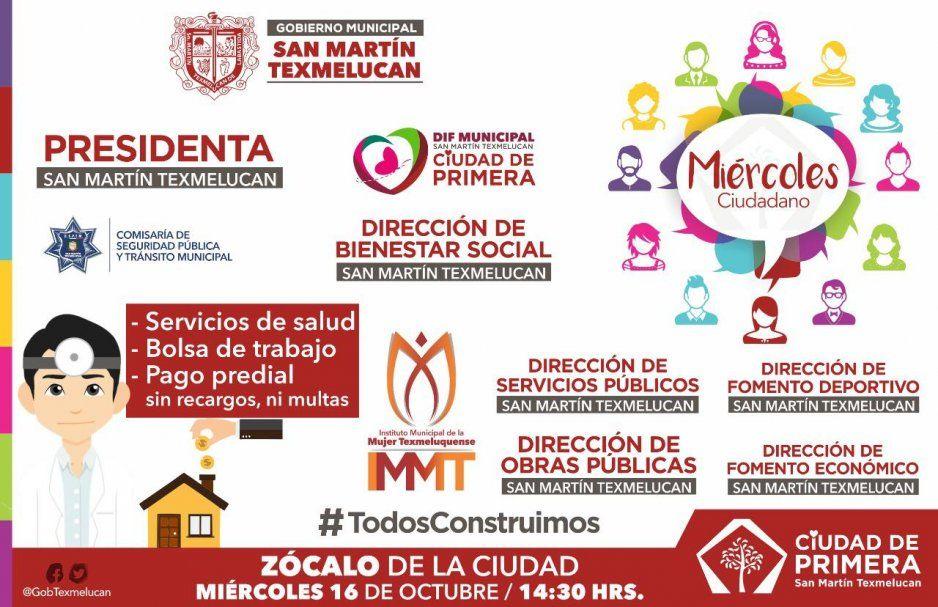 Norma Layón invita al Miércoles Ciudadano en San Martín Texmelucan