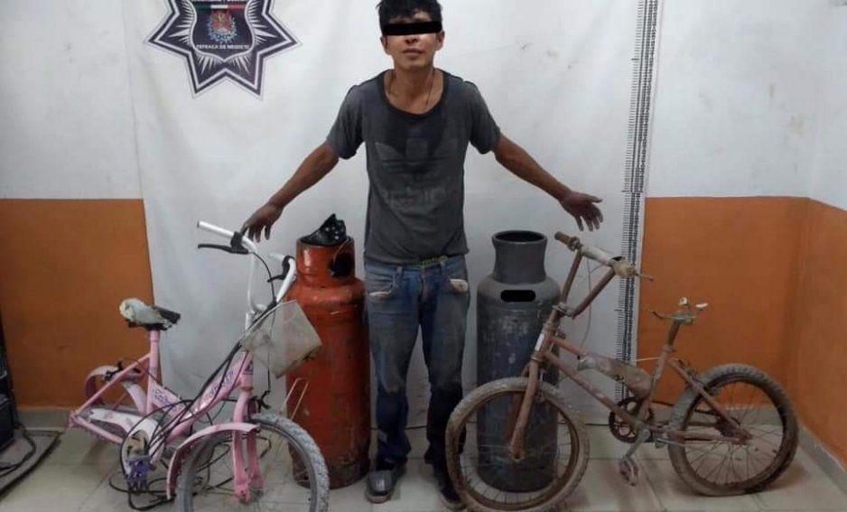 Vecinos detienen a presunto ladrón en el Barrio del Calvario en Tepeaca