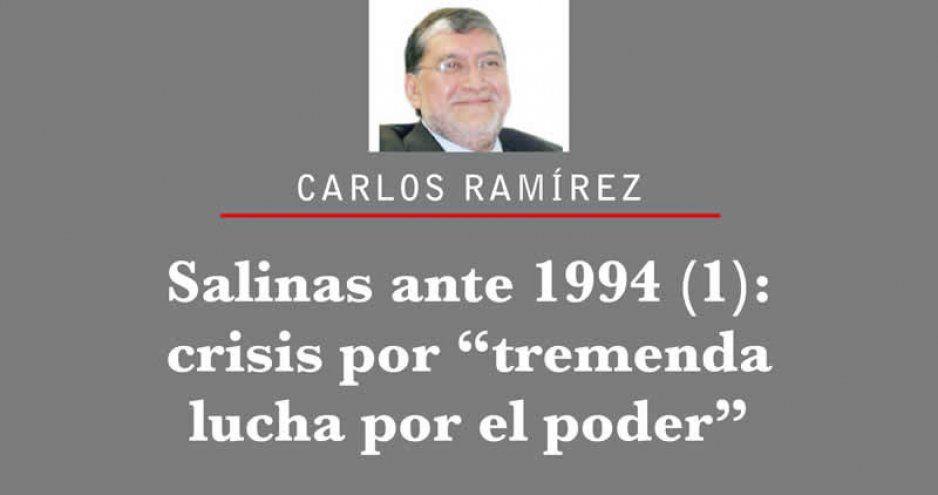 """Salinas ante 1994 (1): crisis por """"tremenda lucha por el poder"""""""