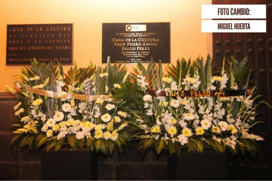 Rinden homenaje por primer aniversario luctuoso de Pedro Ángel Palou