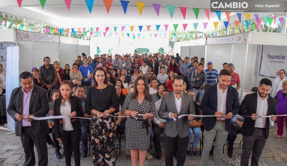 Alcaldesa Norma Layón inaugura Feria de  empleadores y candidatos en Texmelucan