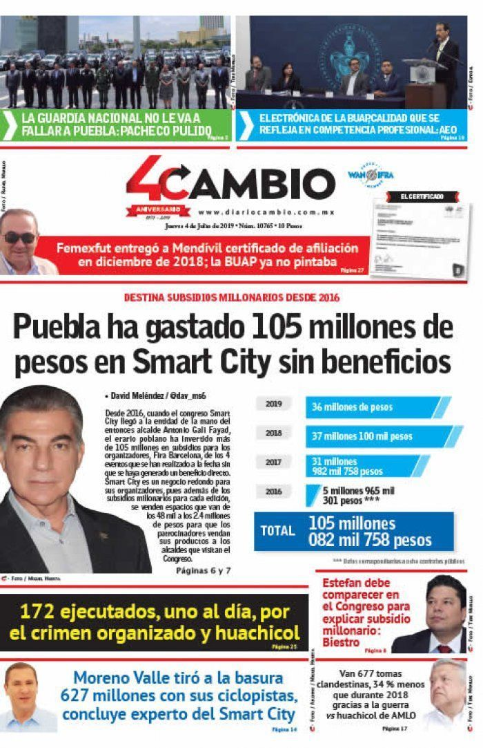 Puebla ha gastado 105 millones de pesos en Smart City sin beneficios