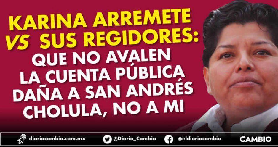 Karina Pérez culpa a sus regidores de dañar  a San Andrés al no aprobar cuenta pública