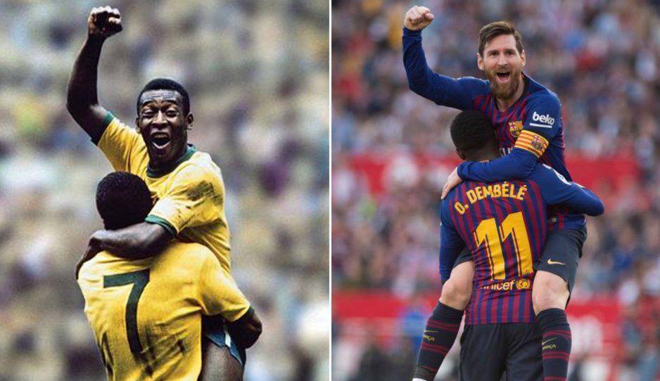 Messi a solo 39 anotaciones de romper el record de Pelé en Santos