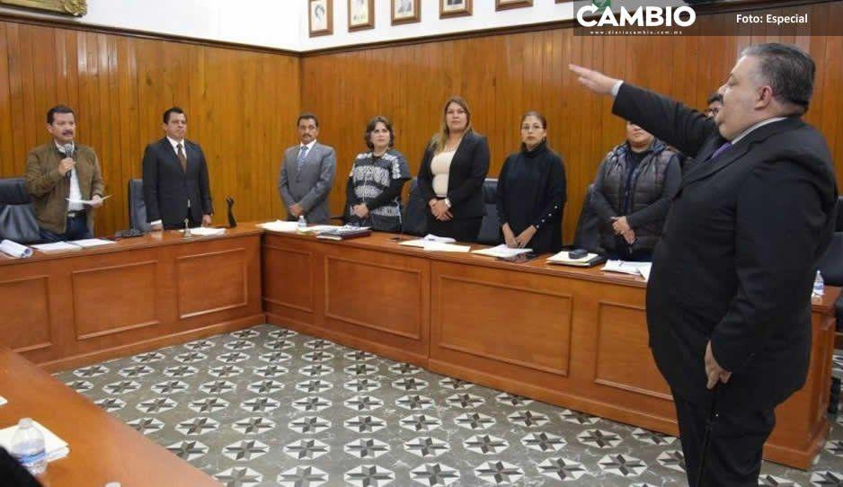 Aprueba Cabildo de San Pedro Cholula  aumento a policías y nombra Contralor