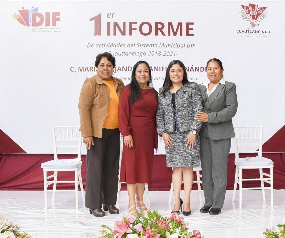 Alejandra Daniel rinde primer informe al frente del Sistema Municipal del DIF en Cuautlancingo