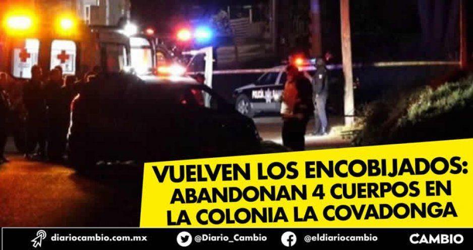 Vuelven los encobijados: abandonan 4 cuerpos en la colonia La Covadonga (VIDEO)