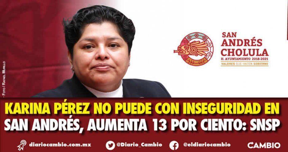 Karina Pérez no puede con inseguridad en San Andrés, aumenta 13 por ciento: SNSP