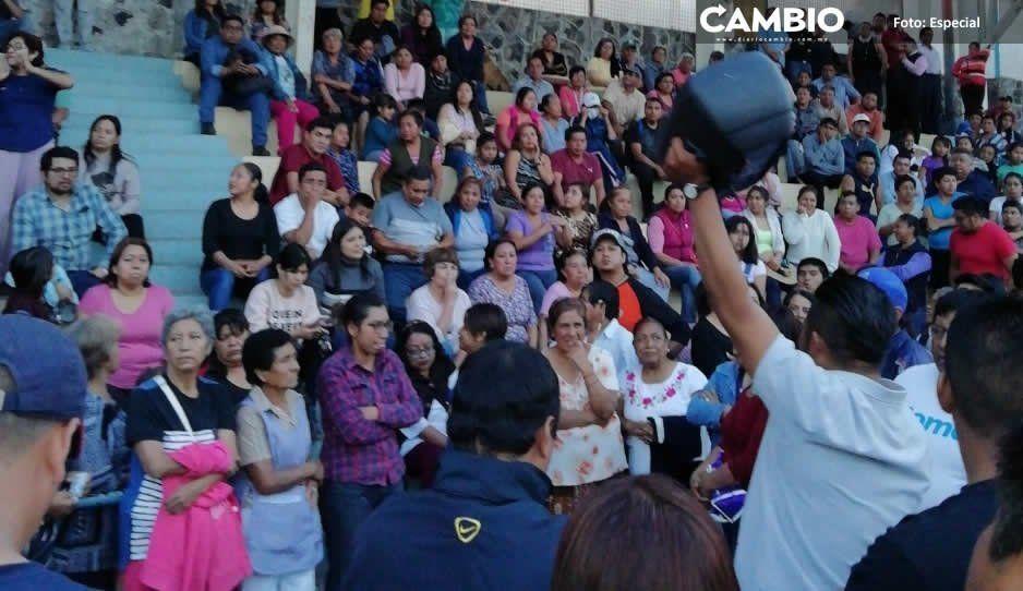 Pobladores de Xoxtla exigen mayor seguridad al edil Ángel Ramos Flores