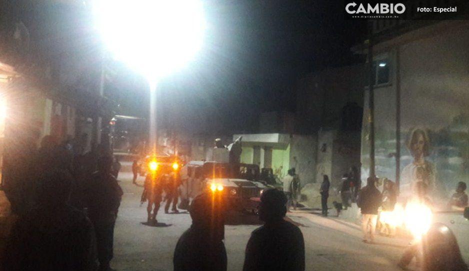 Balacera deja un hombre herido en La Preciosa, Amozoc