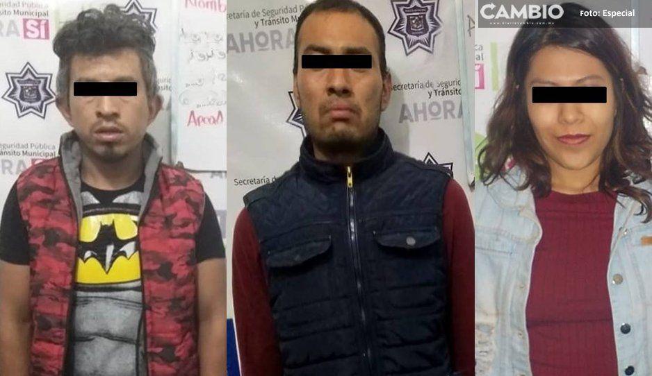 ¡Con las manos en la masa! Detienen a 4 narcomenudistas en Xicotepec