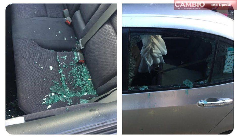¡Así la inseguridad en San Andrés! A plena luz del día cristalean auto en unidad deportiva