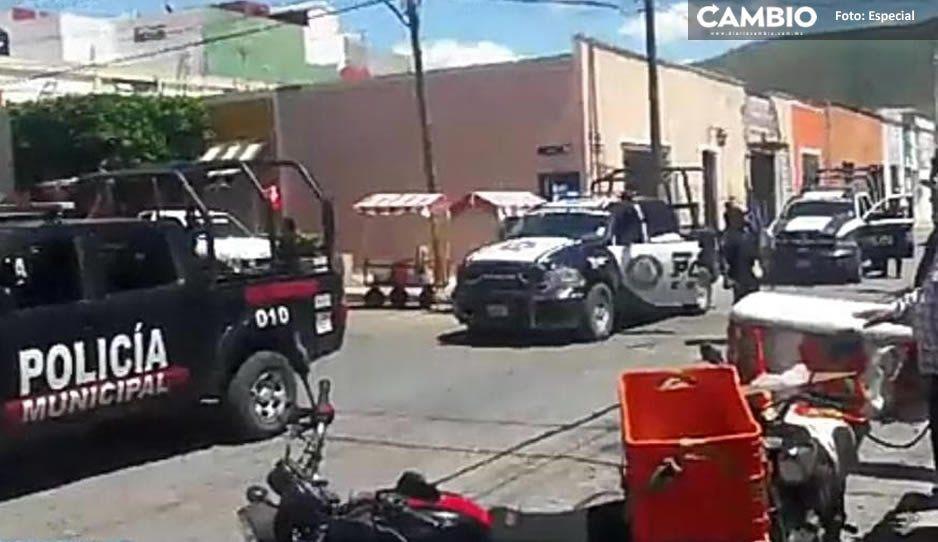 Balacera entre delincuentes y Sedena desata el terror en Tecamachalco; hay varios heridos (VIDEO)