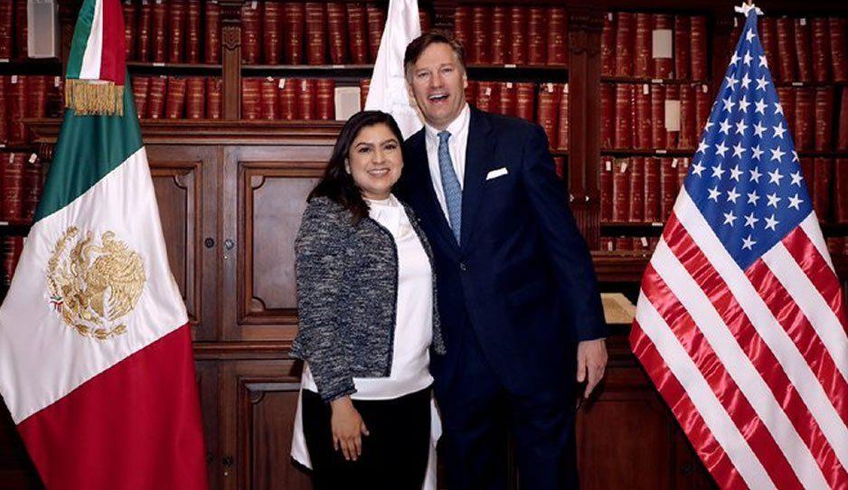 Se reúne Claudia con el embajador de Estados Unidos para fortalecer el turismo en Puebla