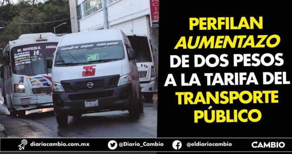 Perfilan aumentazo de dos pesos a la tarifa del transporte público