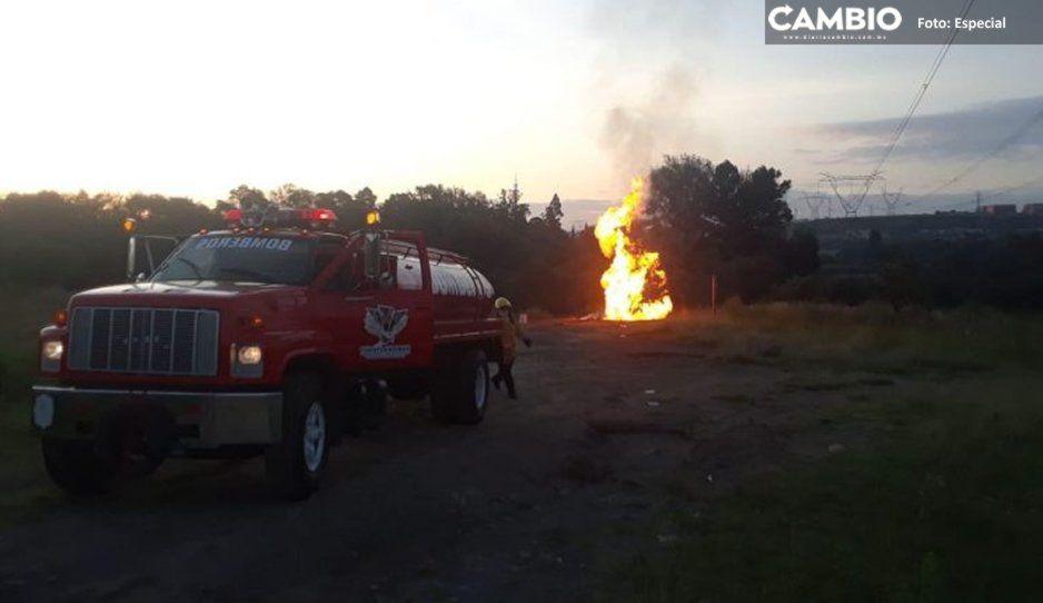 Explosión de toma clandestina deja seis lesionados en San Lorenzo Almecatla