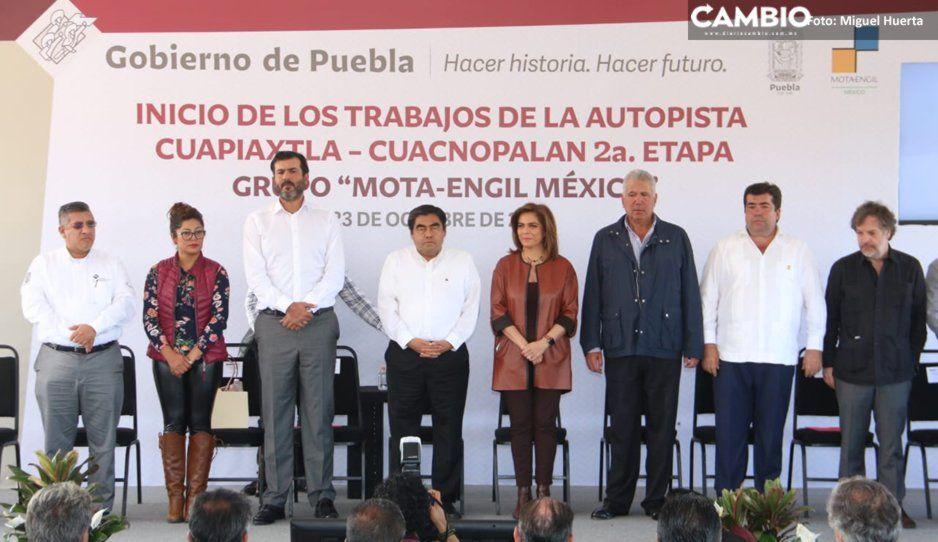 Barbosa da banderazo para construcción de la segunda etapa de la autopista Cuapiaxtla- Cuacnopala