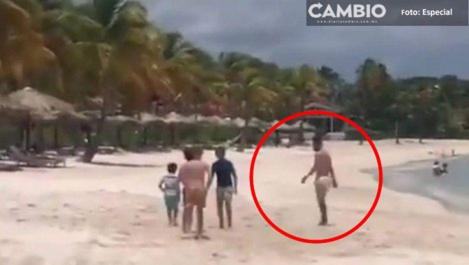 ¡Suertudotes! Niños se encuentran a Messi en la playa y lo invitan a echar la cascarita (VIDEO)