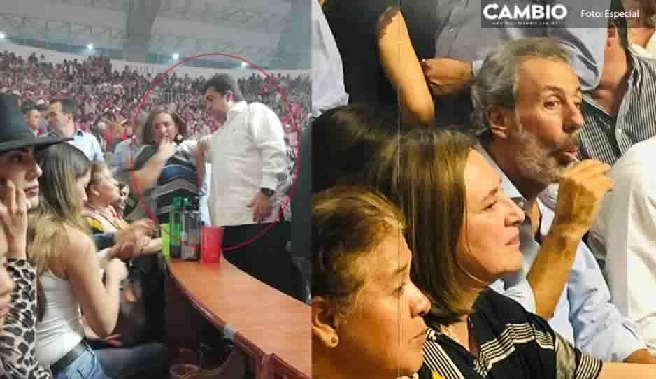 Después de apoyar a Cárdenas, Xóchitl Gálvez se va al VIP fifí del Palenque