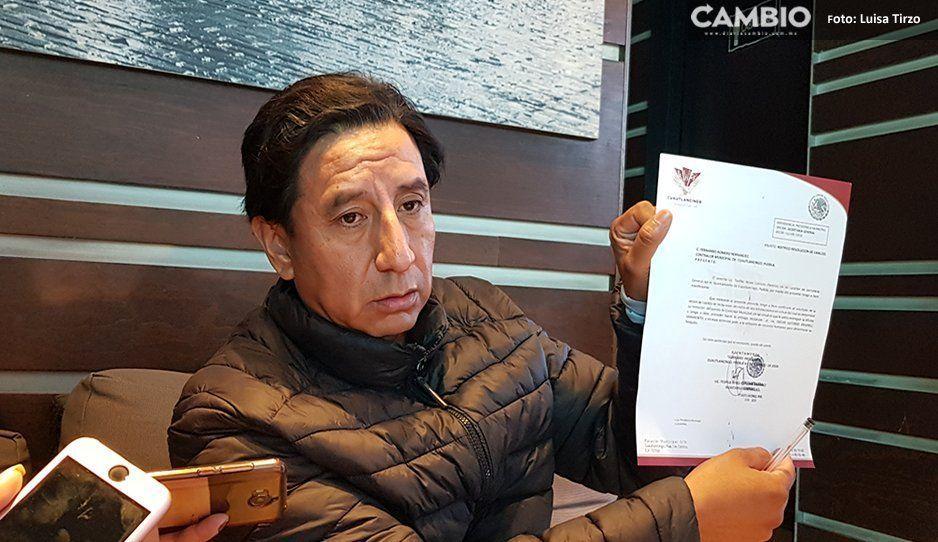¡Abuso de autoridad! Alcaldesa morenista destituye a contralor de Cuatlancingo