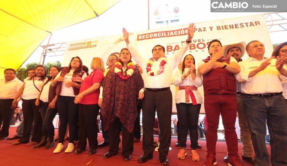 En Tlacotepec, Barbosa promete devolver la seguridad y la tranquilidad al sur de Puebla