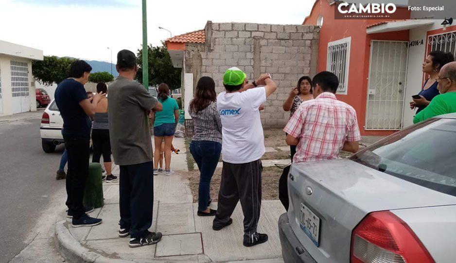 Invaden antorchistas casas en fraccionamiento de Tehuacán