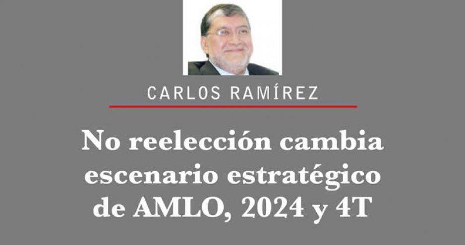 No reelección cambia escenario estratégico de AMLO, 2024 y 4T
